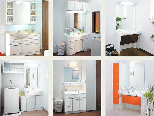収納力や清掃性の高さなどお客様のご要望にあわせて多彩な機能とデザインを備えた洗面所リフォーム