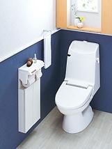 「狭さ」を解消するためタンクの付いていないタンクレストイレやシステムトイレ