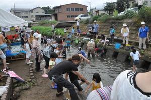第3回 青田川魚すくい大会