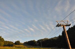 スキー場と雲