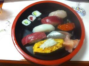 納涼会のお寿司