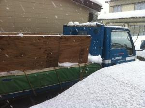 排雪用ダンプカー
