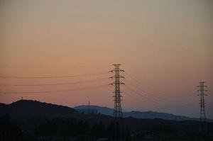 関越道の夕日