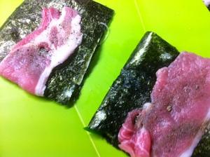 豚肉はさみ焼き