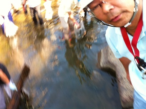儀明川の清掃