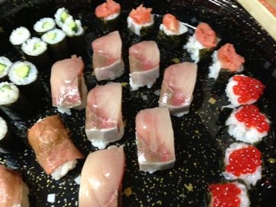 日曜日はお寿司