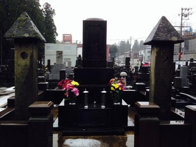 1月の墓参り