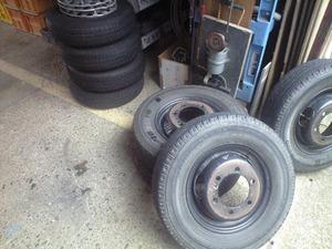 冬用タイヤに取替え