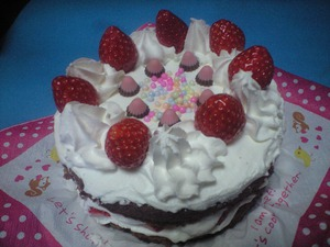 手作りのバレンタインケーキ