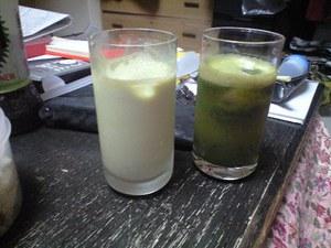健康の素、野菜ジュース