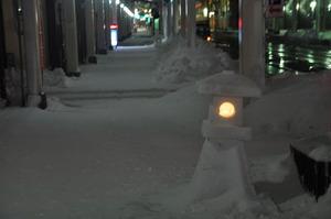 夜の雪灯籠 4