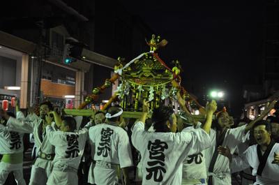 神輿の宮入
