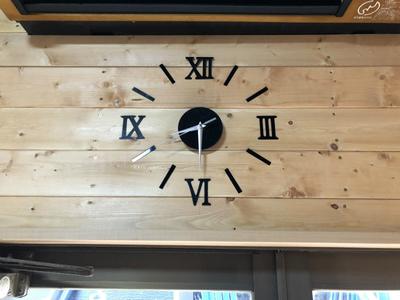 壁貼り時計