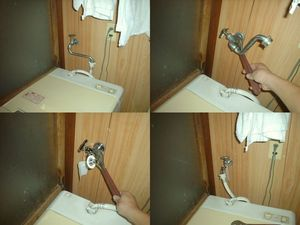全自動洗濯機の専用水栓の取り付け