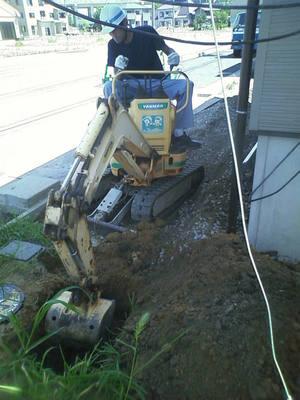 下水道接続工事